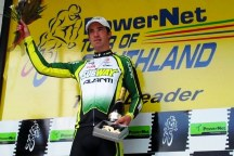 ..|_ Joe Cooper on the Podium after Stage Three of the 2010 PowerNet Tour