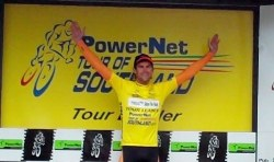 ..|_ Jack Bauer in Yellow after Stage Seven of the 2010 PowerNet Tour