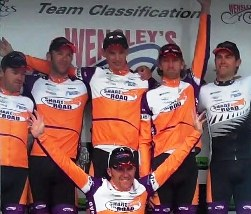 ..|_ Share The Road wins the Teams Classification in the 2010 PowerNet Tour